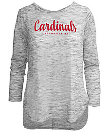 Pressbox Women's Louisville Cardinals Spacedye Long Sleeve T-Shirt