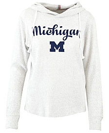 Pressbox Women's Michigan Wolverines Cuddle Knit Hooded Sweatshirt