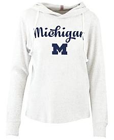 Pressbox Women's Michigan Wolverines Cuddle Knit Hooded Sweatshirt
