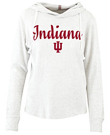 Pressbox Women's Indiana Hoosiers Cuddle Knit Hooded Sweatshirt