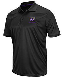 Colosseum Men's Washington Huskies Short Sleeve Polo