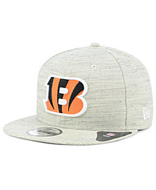 New Era Cincinnati Bengals Luxe Gray 9FIFTY Snapback Cap