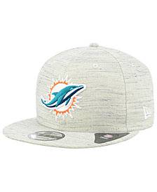 New Era Miami Dolphins Luxe Gray 9FIFTY Snapback Cap