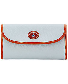 Dooney & Bourke Dallas Cowboys Pebble Continental Clutch
