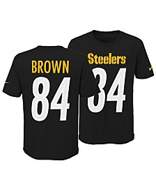 Nike Antonio Brown Pittsburgh Steelers Pride Name and Number 3.0 T-Shirt, Big Boys (8-20)