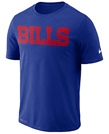 Nike Men's Buffalo Bills Dri-FIT Cotton Essential Wordmark T-Shirt