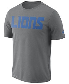 Nike Men's Detroit Lions Dri-FIT Cotton Essential Wordmark T-Shirt
