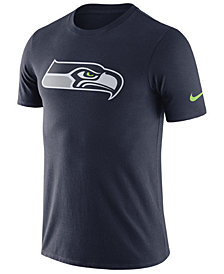Nike Men's Seattle Seahawks Dri-Fit Cotton Essential Logo T-Shirt