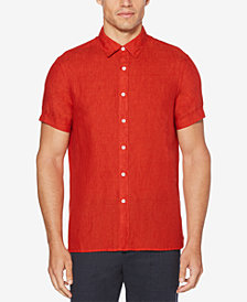 Perry Ellis Men's Regular-Fit Linen Shirt