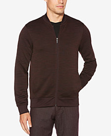 Perry Ellis Men's Ottoman Ribbed-Knit Bomber Jacket