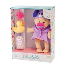 Manhattan Toy Wee Baby Stella 12 Inch Soft Baby Doll And Bathing Set