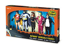 Batman Classic Tv Series Bendable Boxed Set Batman, Robin, Catwoman, The Joker And The Penguin