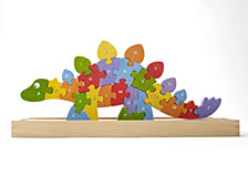 Begin Again Toys Dinosaur A-Z Wooden Puzzle