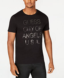 GUESS Mens City of Angels Graphic T-Shirt