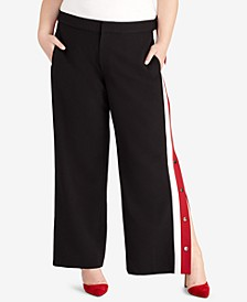 Plus Size Snap-Side Pants, Created for Macy's