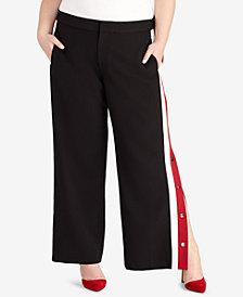 RACHEL Rachel Roy Plus Size Snap-Side Pants, Created for Macy's
