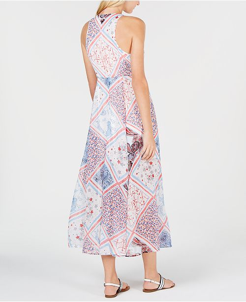 a977e5f97f4 ... Tommy Hilfiger Patchwork-Print Halter Dress, Created for Macy's ...