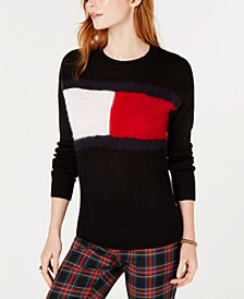 Tommy Hilfiger Textured Flag Logo Sweater, Created for Macy's