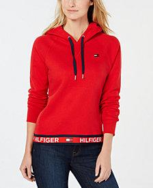 Tommy Hilfiger Sport Logo-Tape Pullover Hoodie