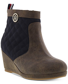 Tommy Hilfiger Little & Big Girls Platform Wedge Booties