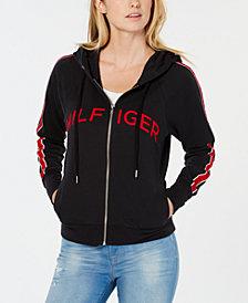Tommy Hilfiger Sport Raglan-Sleeve Varsity Hoodie