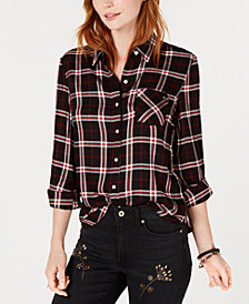 Tommy Hilfiger Plaid Button-Up Shirt, Created for Macy's