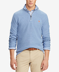 Polo Ralph Lauren Mesh Cotton Half-Zip Sweater
