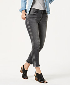 Style & Co Metallic-Stripe Skinny Jeans, Created for Macy's