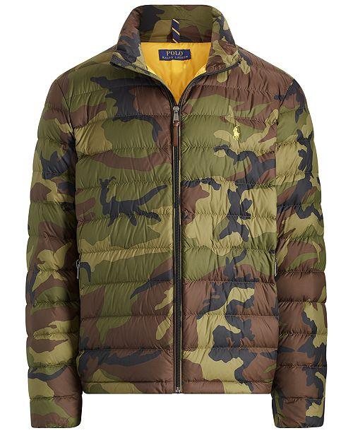 80c835146 Polo Ralph Lauren Men's Camouflage Packable Down Jacket & Reviews ...