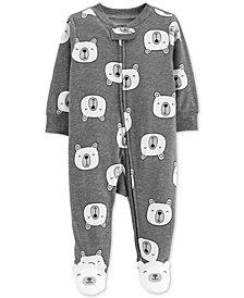 Carter's Baby Girls & Boys Polar Bear Cotton Footed Pajamas