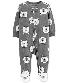 Carter's Baby Girls & Boys Polar Bear Cotton Footed Pajamas