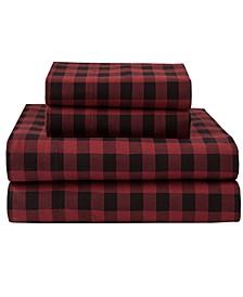 Winter Nights Cotton Flannel Queen Sheet Set
