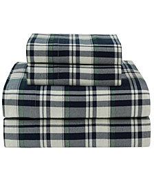 Winter Nights Cotton Flannel Full Sheet Set