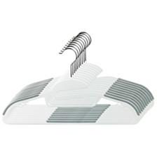 Home Basics Plastic Non-Slip Hanger, Pack of 10