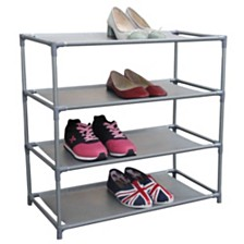 Home Basics 12 Pair Non-Woven Shoe Shelf