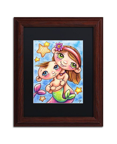 "Trademark Global Jennifer Nilsson My Sister & Me Matted Framed Art - 16"" x 16"" x 0.5"""