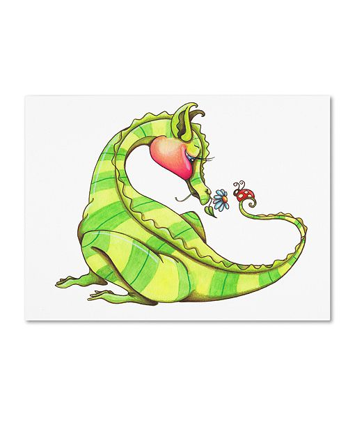 "Trademark Global Jennifer Nilsson A Gift for You - Dragon 3 Canvas Art - 11"" x 11"" x 0.5"""