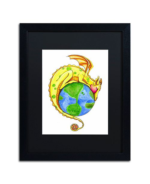 "Trademark Global Jennifer Nilsson Dreaming of Peace - Dragon Matted Framed Art - 16"" x 20"" x 0.5"""