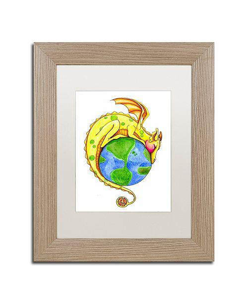 "Trademark Global Jennifer Nilsson Dreaming of Peace - Dragon Matted Framed Art - 16"" x 20"" x 0.5"""