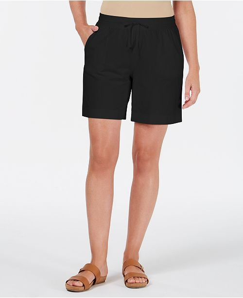 Karen Scott Petite Drawstring Shorts, Created for Macy's