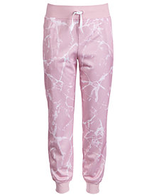 Ideology Little Girls Marble-Print Jogger Pants, Created for Macy's