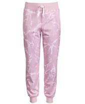 02f236b39dd Ideology Big Girls Marble-Print Jogger Pants