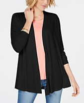 3624e26bf9e Karen Scott Draped Open-Front Cardigan