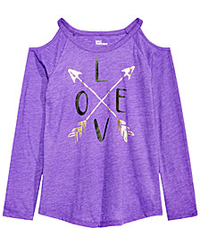 Epic Threads Big Girls Long-Sleeve Love T-Shirt, Created for Macy's