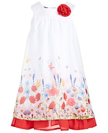 Blueberi Boulevard Little Girls Floral-Print Dress