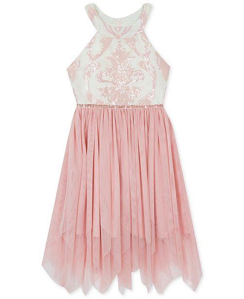 Rare Editions Big Girls Plus-Size Sequin Fairy Hem Dress