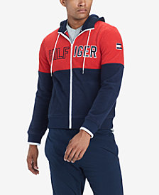 Tommy Hilfiger Men's Colorblocked Logo Hoodie, Created for Macy's