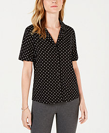 Maison Jules Printed Camp Shirt, Created for Macy's