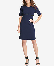 DKNY Studded Scuba A-Line Dress, Created for Macy's
