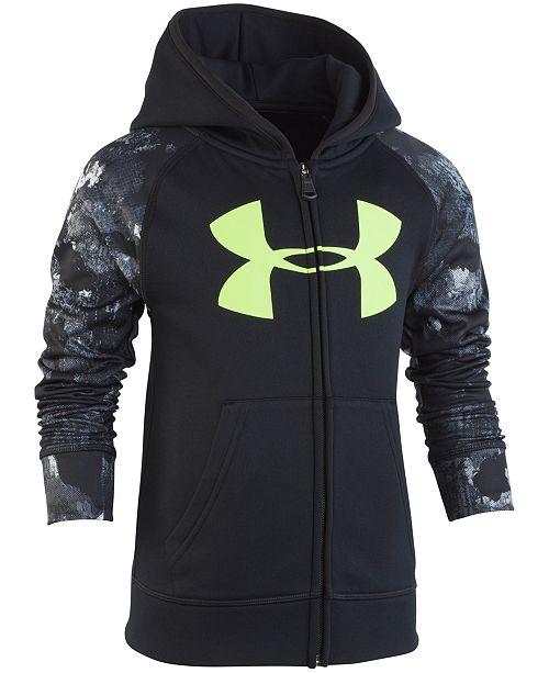 Under Armour Little Boys Bedrock Camo Zip-Up Hoodie - Sweaters ... 101d3e1b66aa
